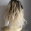 Thumbnail: Blonde ombré 12 inches 1/613 black to blonde wavy