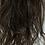 Thumbnail: Dark brown (2) human hair blend 18 inches loose dody hair scrunchie
