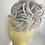 Thumbnail: Silver large synthetic hair Scrunchie