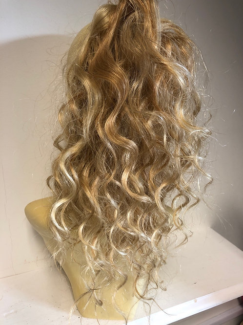 Mixed golden blonde (27/613) 12 inches premium hair blend in Italian wave hair