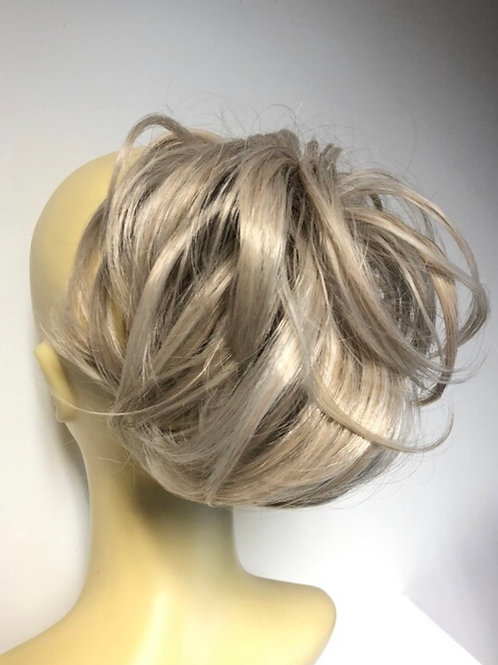 Silver blonde deluxe synthetic hairpiece Scrunchie