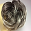 Thumbnail: Ash dark grey blonde with creamy tips synthetic scrunchie