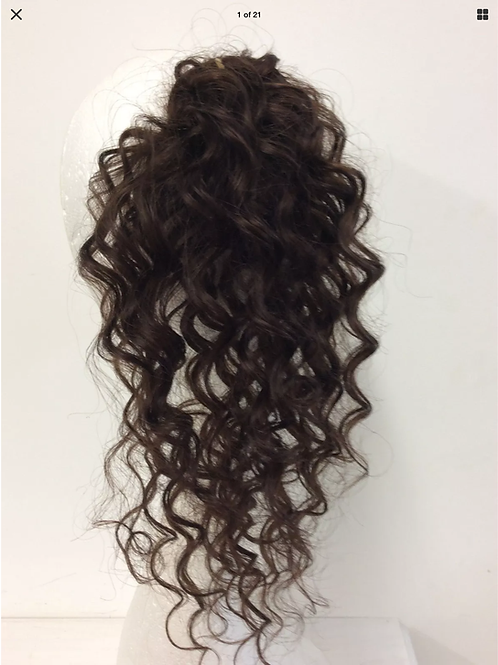 brown deep wave curly (4) 14 inches 43g