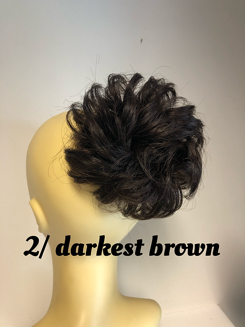 Darkest brown human hair Scrunchie