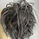 Thumbnail: Large dirty grey brown  synthetic curly hairpiece Scrunchie
