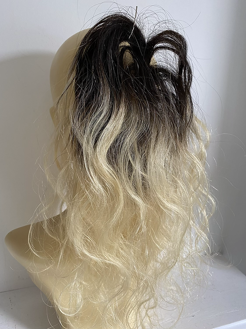 Blonde ombré 12 -14 inches 1/613 black to blonde wavy