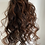 Thumbnail: Black with copper highlights human hair blend 14inches very curly