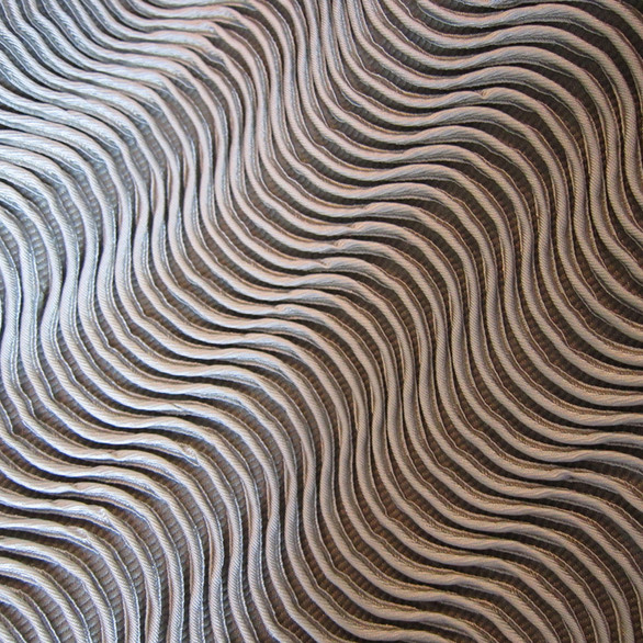Silver wave textural woven fabric