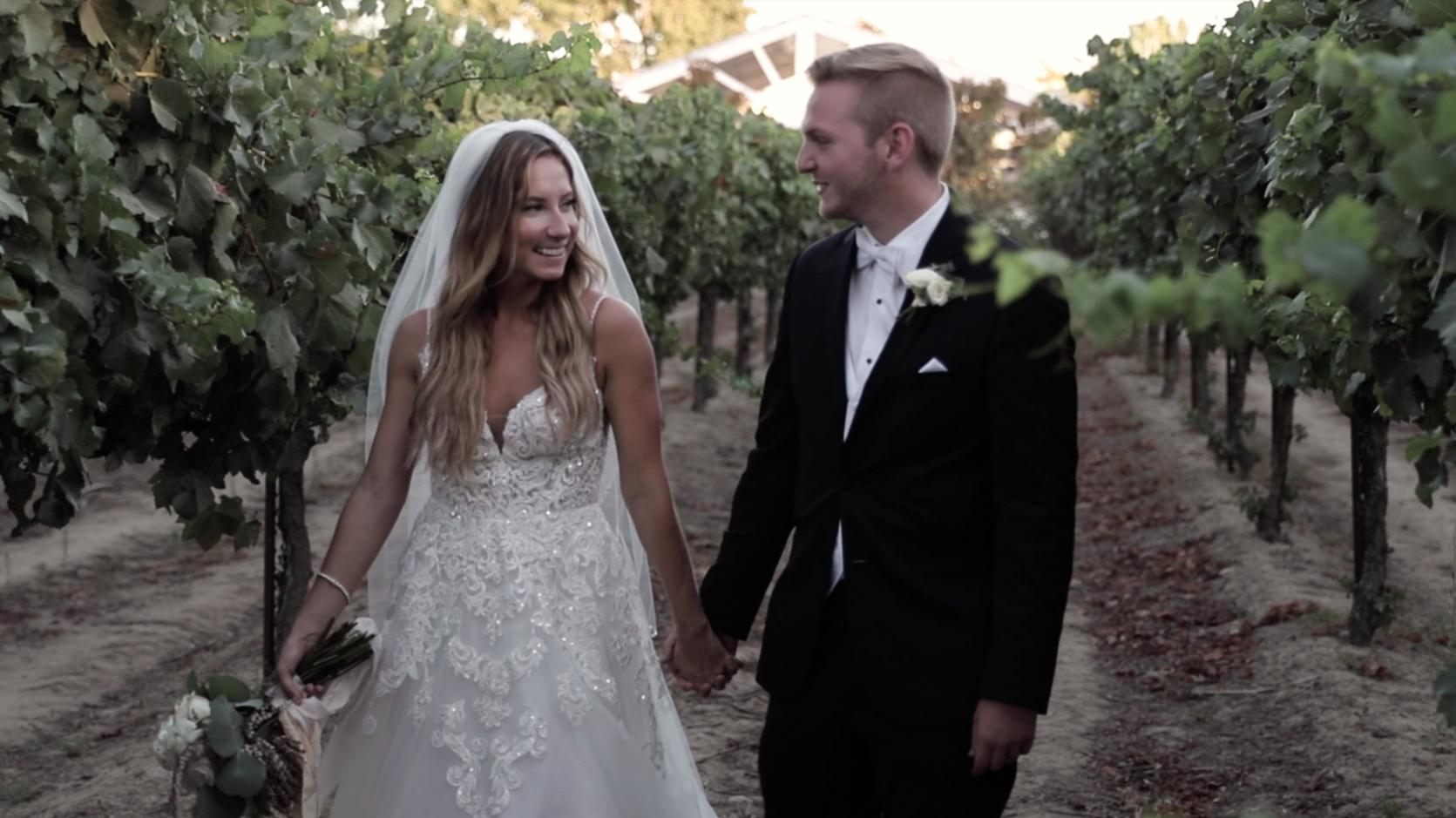 Wedding Photo at Scribner Vineyards