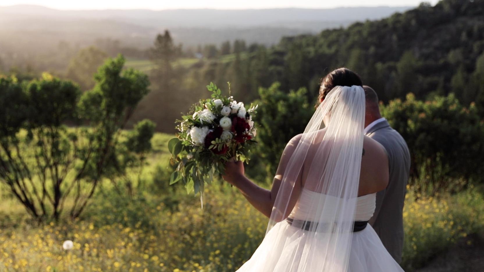Wedding Sunset Video on Mountain