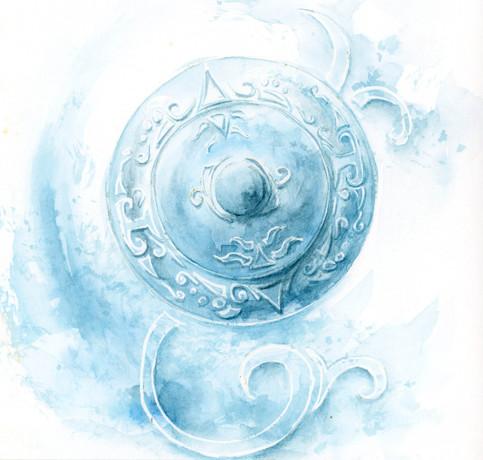 Bouclier_reve_dilhu_aquarelle_watercolor