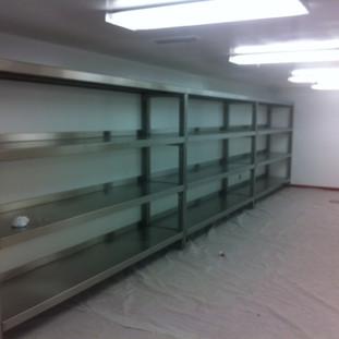 storage stainless steel shelves