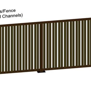 Aluminum Fence Vertical Channels