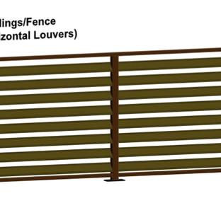 Aluminum Fence Horizonal Louvers