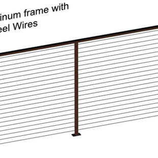 Aluminum Fence WIth Stainles Steel Wires