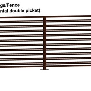 Aluminum Fence Horizonal Double Picket