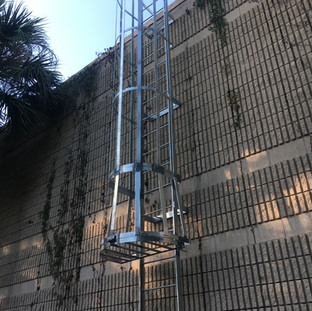 Safety Caged Ladder