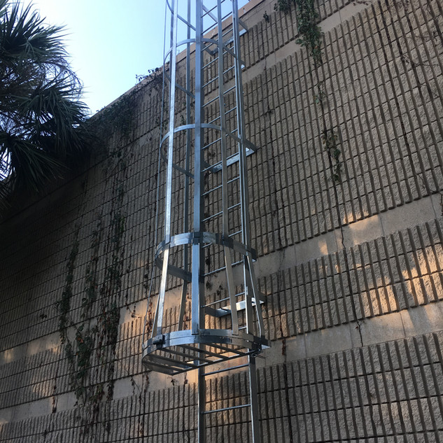 Commercial steel ladder