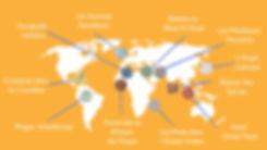 Carte des Voyages Culinaires - Meet My M