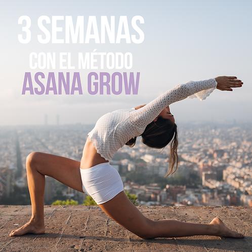 RETO DE 3 SEMANAS CON EL MÉTODO ASANA GROW