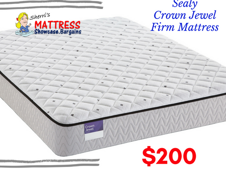 Sealy Crown Jewel Firm Queen Mattress $200