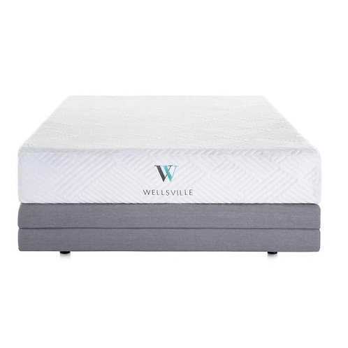 "11"" Wellsville Gel Memory Foam Mattress & Adjustable Base Split Head King"