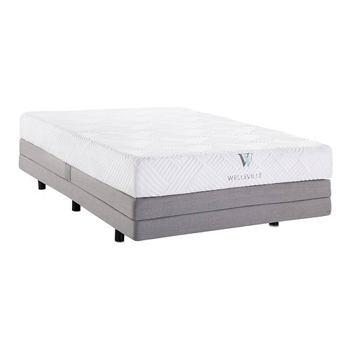 "8"" Wellsville Gel Memory Foam Mattress & Adjustable Base Queen"