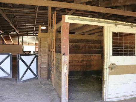 Doors to the indoor arena