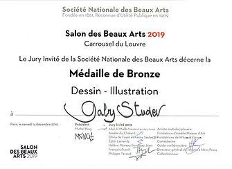 Medaille de Bronze:Salon des Beaux Arts