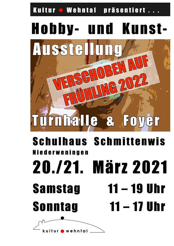 Plakat Hobby Austellung 2021:verschoben.