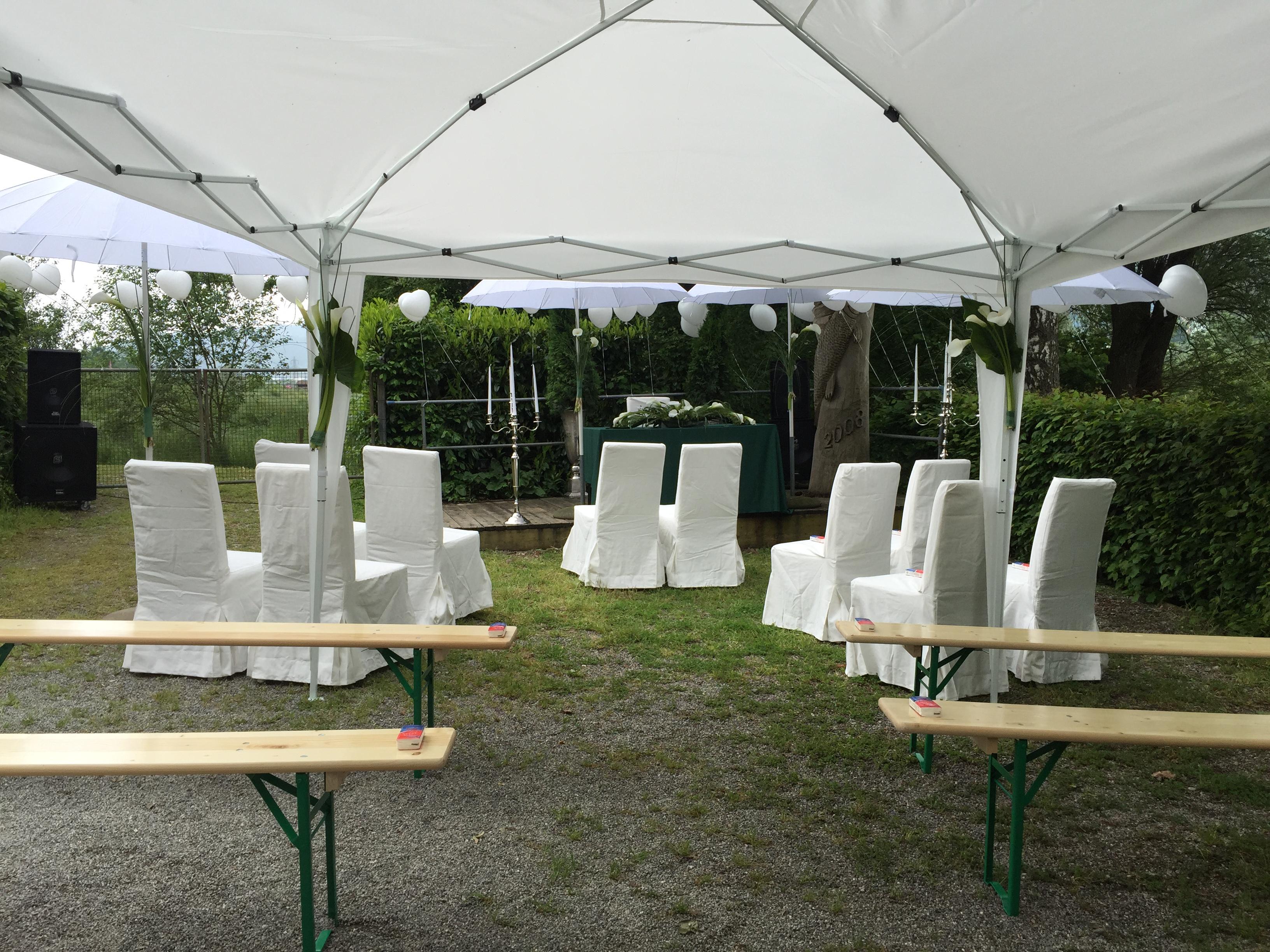 Openair Hochzeitzeremonie