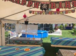 Kindergeburtstagsfest Motto Jake der Pirat und Frozen