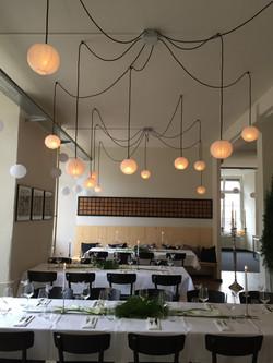 Lichtkonzept Hochzeitsfest Lägernbräu