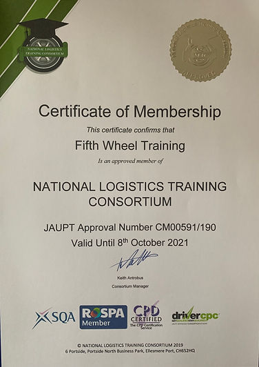 Fifth Wheel Training Consortium Certific
