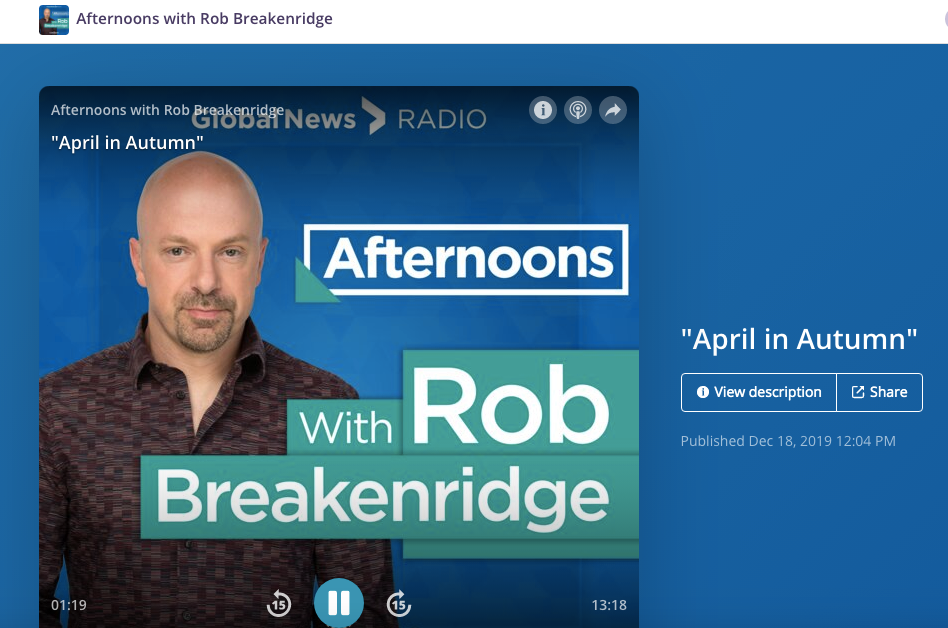 Global News Rob Breakenridge Intervi