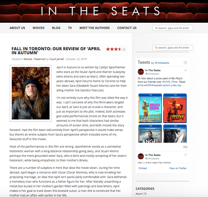 In The Seats Review