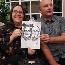 Disney wedding caricatures at a wedding