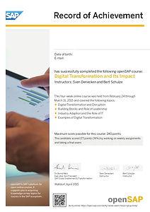 Vzorec SAP ERP rešitve