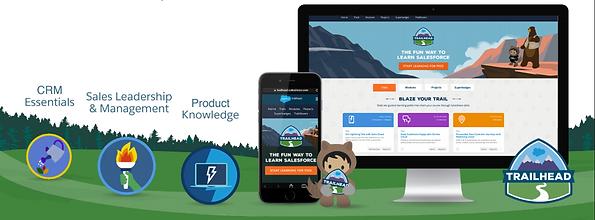 Infografika Salesforce trailhead