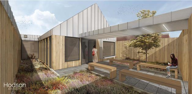 Hodson Architects - EDU Courtyard Visual