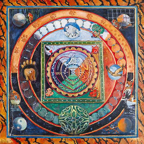 "Life of Pi Mandala 12"" x 12"""