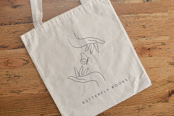 Butterfly Books Tote Bag