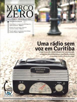 Rádio comunitária inativa em Curitiba é tema de capa do Marco Zero