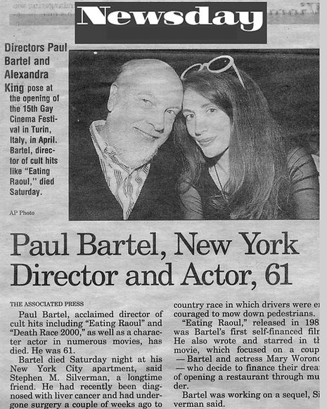 Alexandra King Director of Red Lipstick The Movie with Paul Bartel Director of Eating Raoul