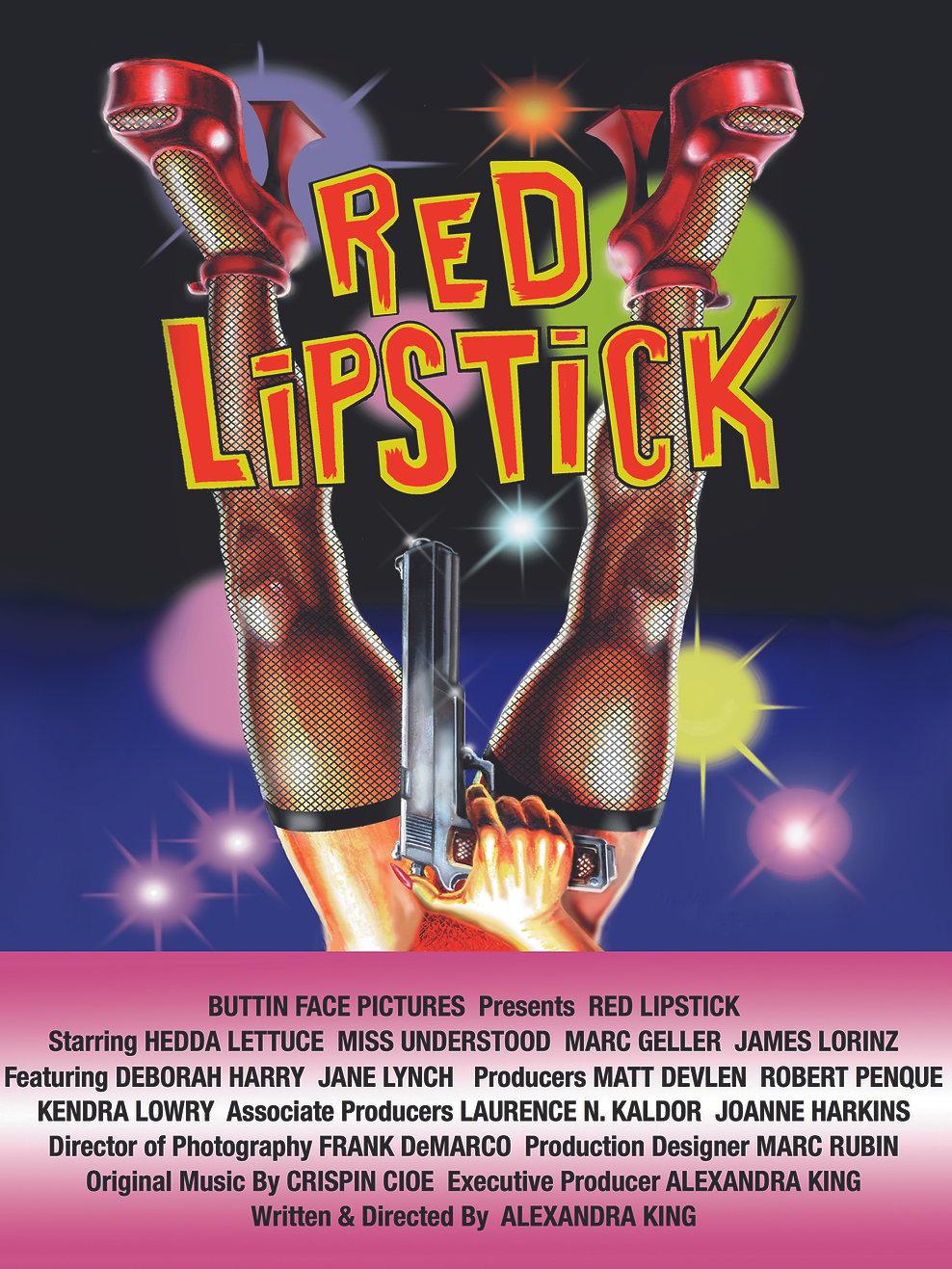 Red Lipstick The Movie Poster Starring Hedda Lettuce & Miss Understood