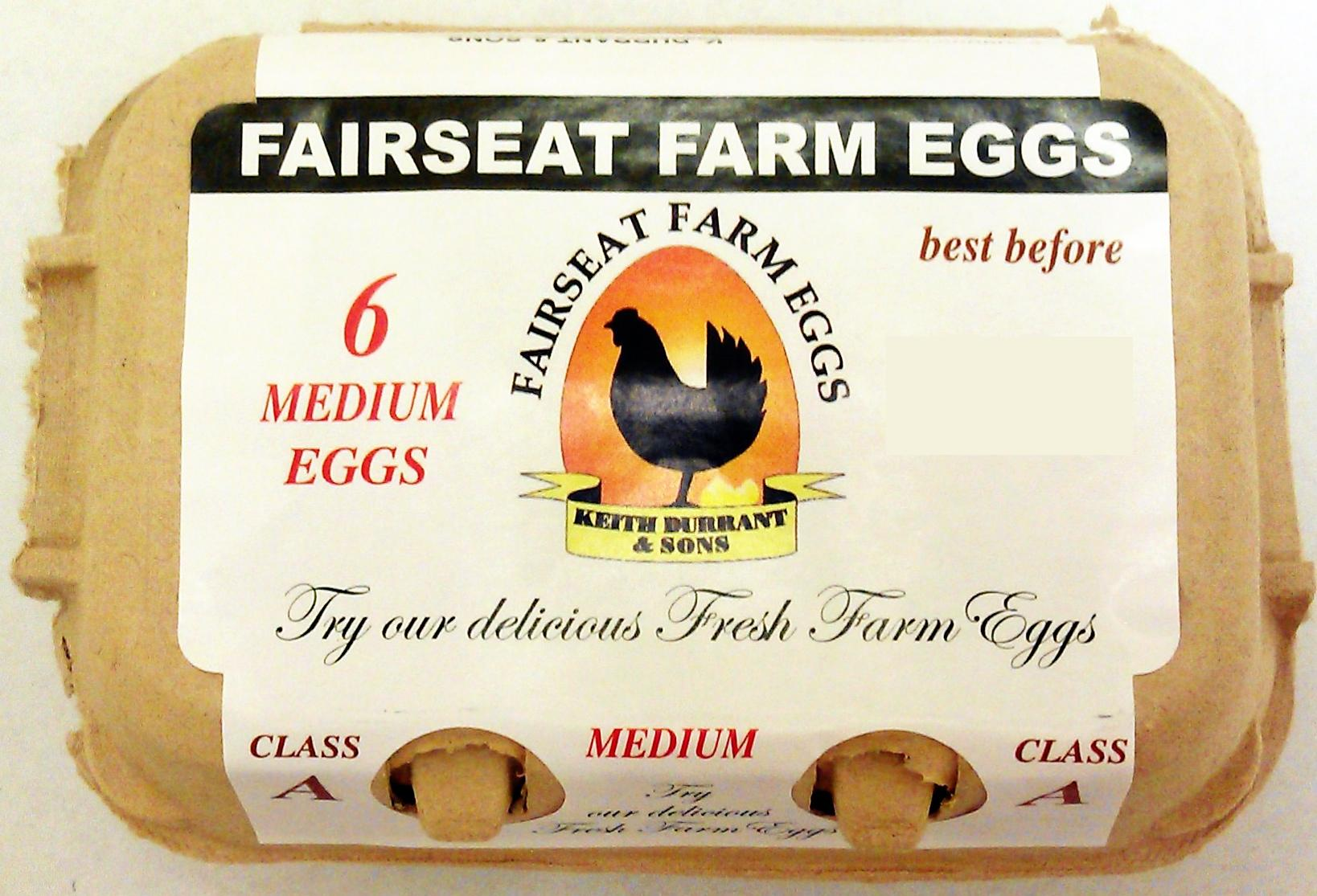 Six Medium Eggs.