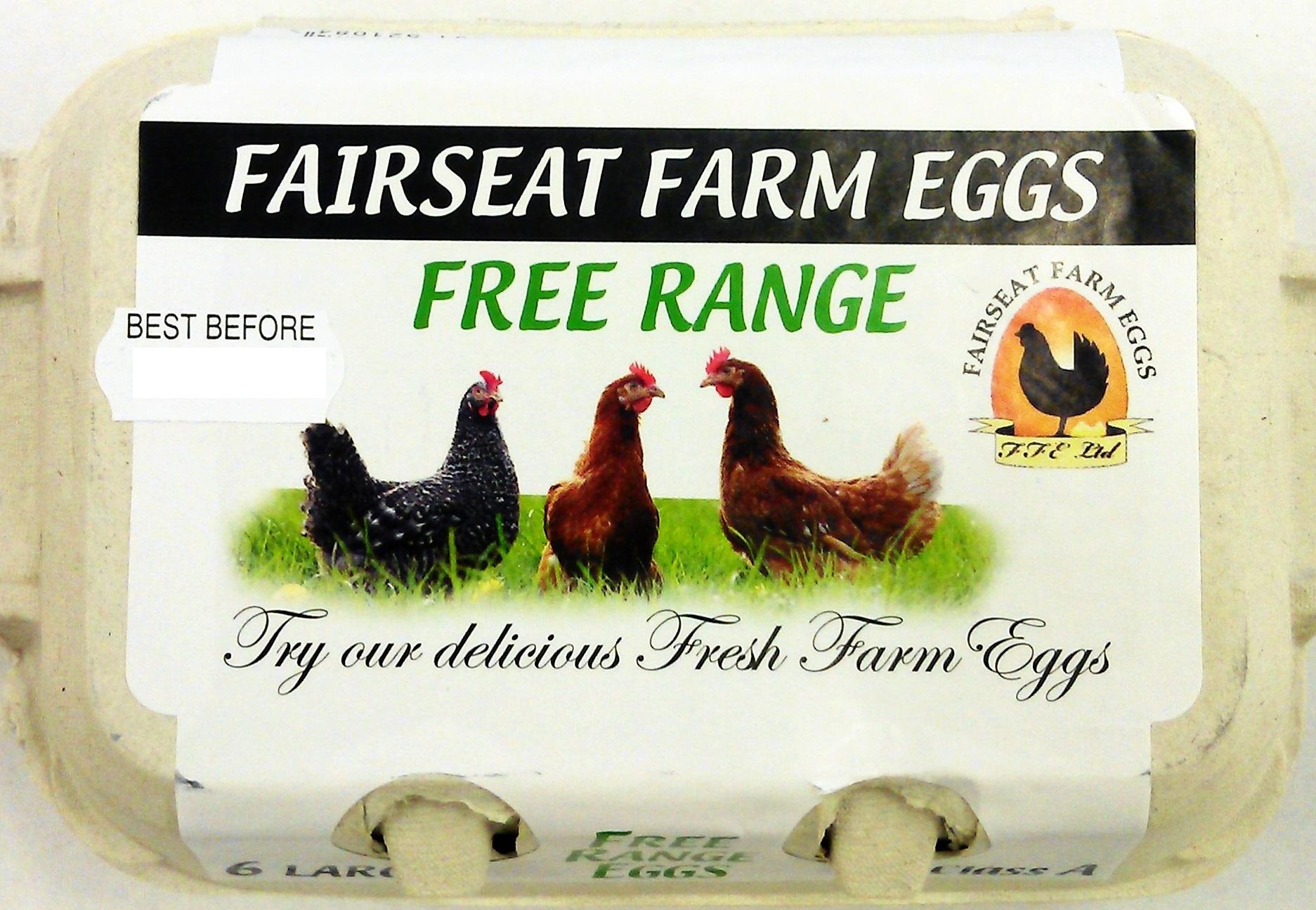 6 Large Free Range Eggs