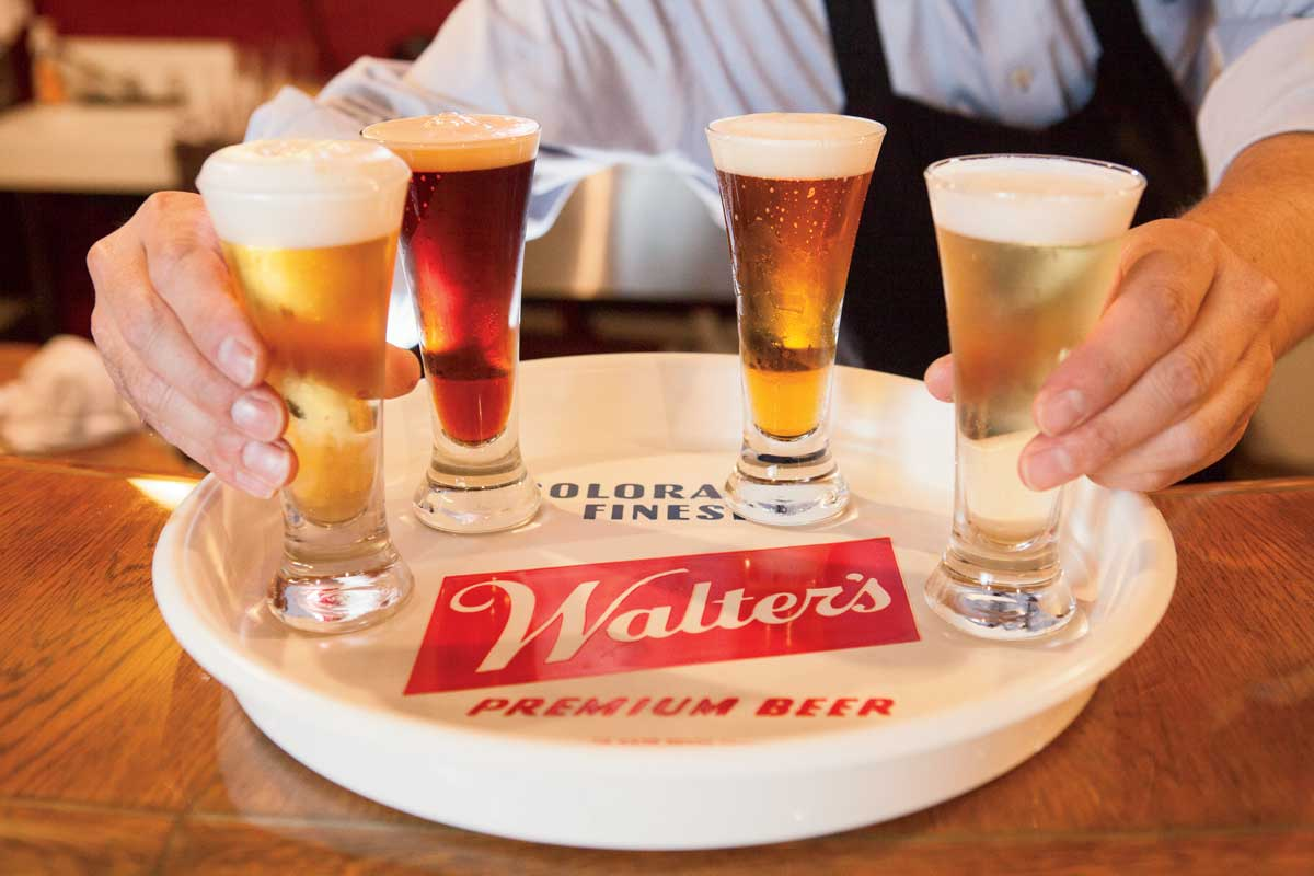 Walter's beers on tray