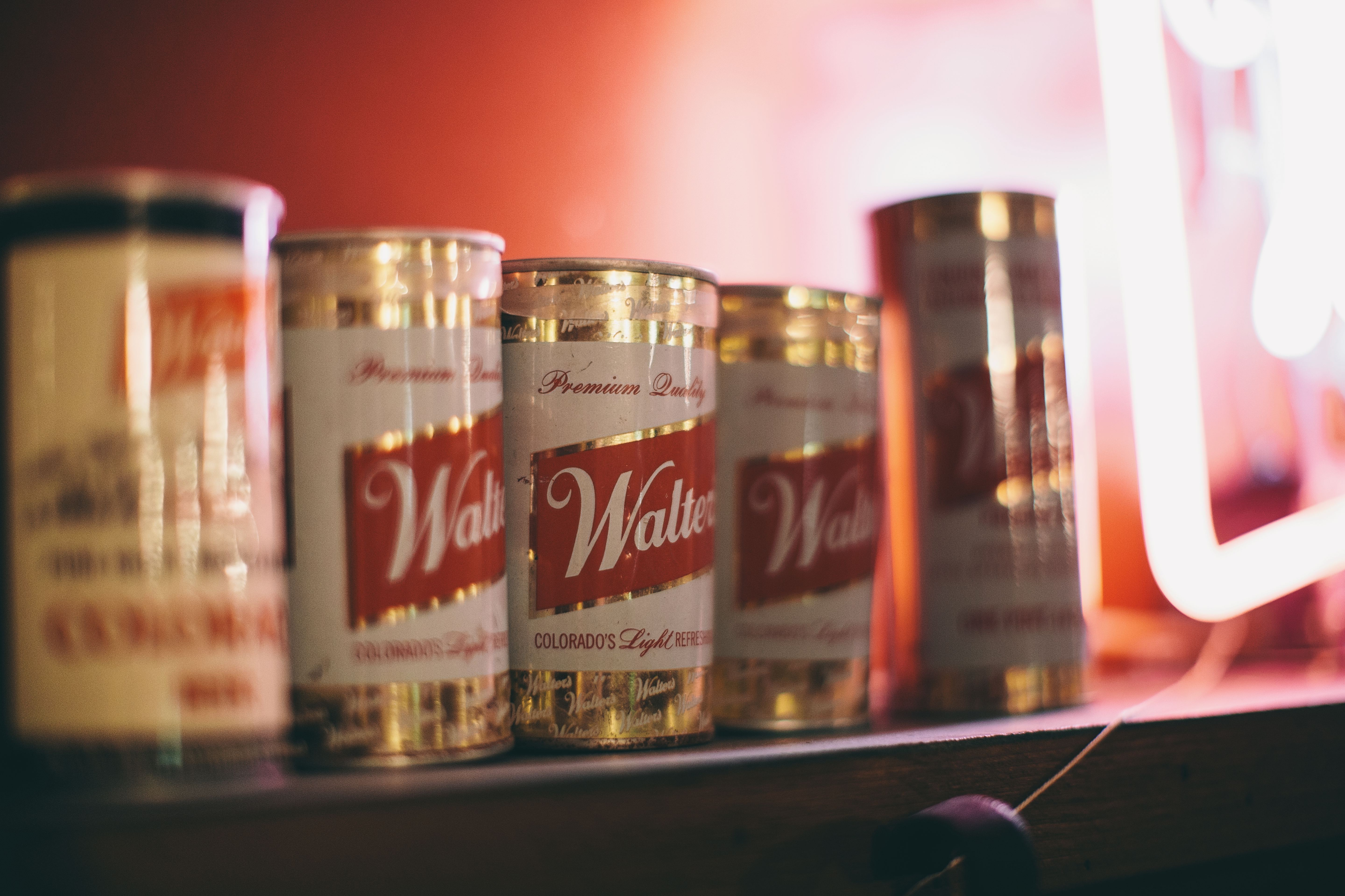Vintage Walter's Cans