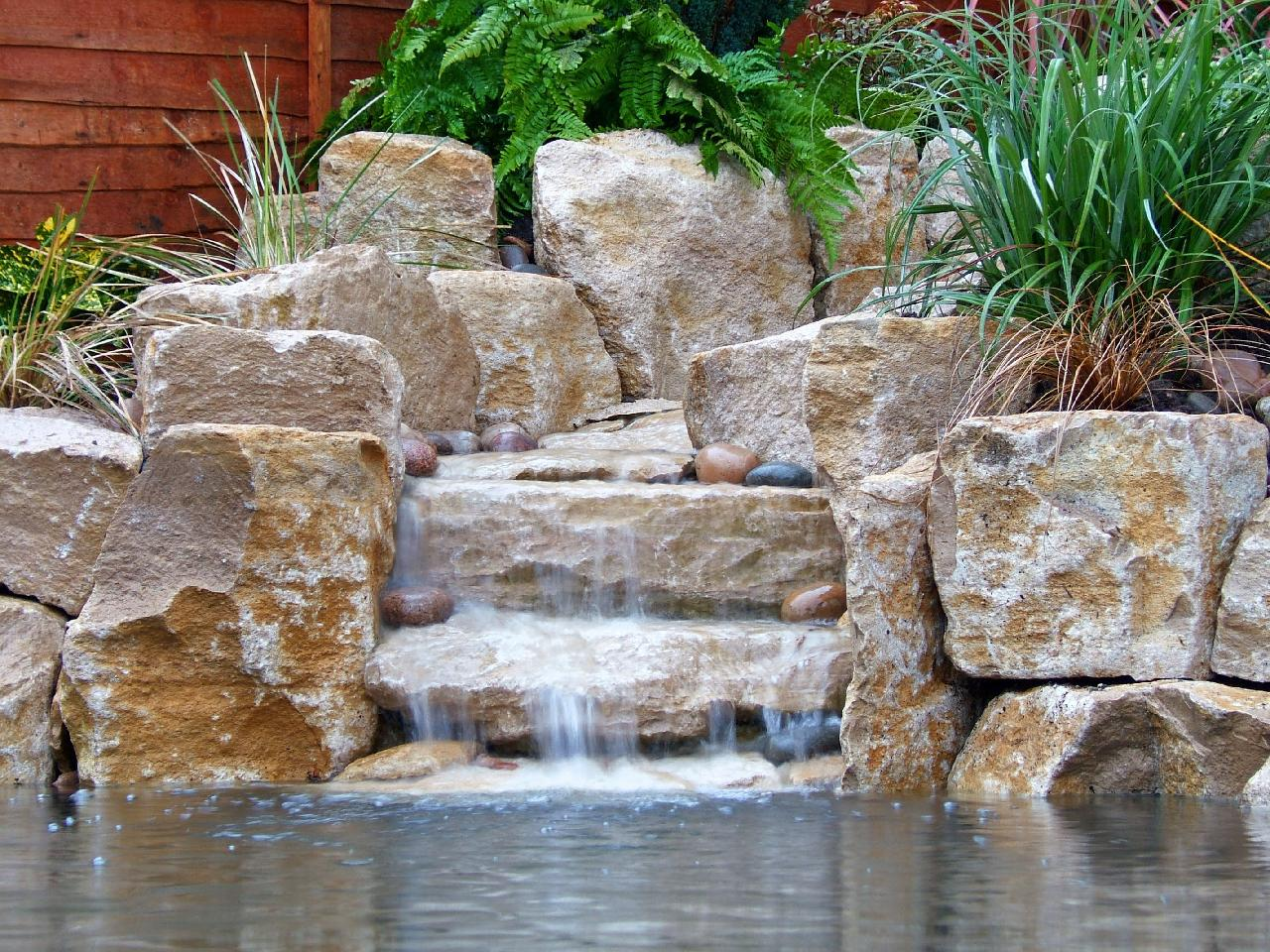 pond waterfall Surrey